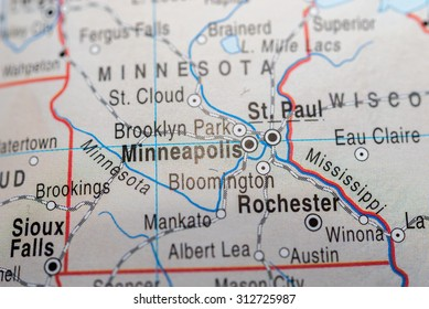 Map view of Minneapolis