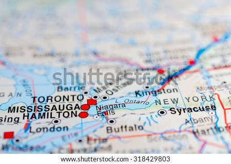 Map View Mississauga Canada Stock Photo Edit Now 318429803