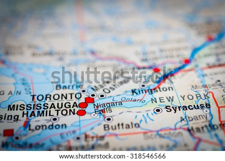 Map View Mississauga Canada Vignette Stock Photo Edit Now