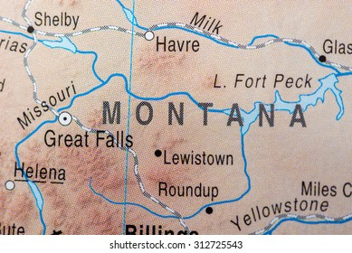Map of Helena Montana Stock Photos, Images & Photography ...