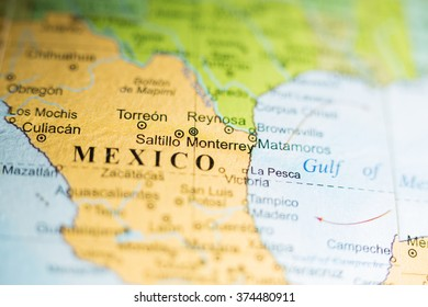 Map View Torreon Mexico On Geographical Stock Photo Edit Now