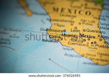 Map View Morelia Mexico On Geographical Stock Photo Edit Now