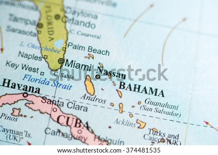 Map View Nassau Bahamas On Geographical Stock Photo (Edit Now ...