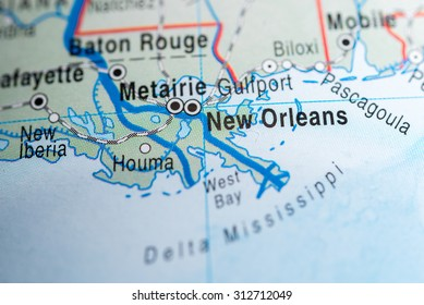 Map view of New Orleans