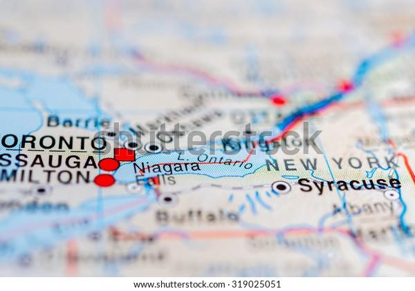 Map View Niagara Falls Canada Stock Photo Edit Now 319025051