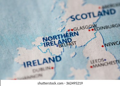 map view of northern ireland