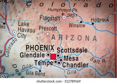 Map view of Phoenix