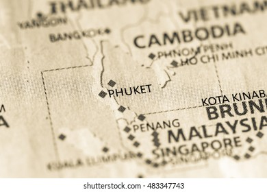 Phuket Map Images, Stock Photos & Vectors | Shutterstock