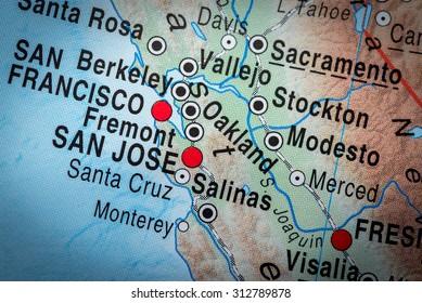 Map view of San Francisco