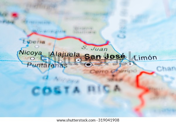 Map View San Jose Costa Rica Stock Photo (Edit Now) 319041908