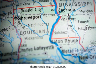 Map view of Shreveport. (vignette)
