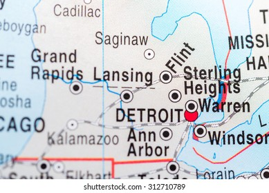 Map view of Sterling Heights