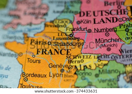 Map View Strasbourg France On Geographical Stock Photo Edit Now