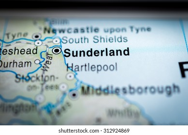 Map view of Sunderland. (vignette)