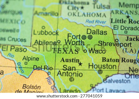 Geographical Map Of Texas.Map View Texas On Geographical Globe Stock Photo Edit Now