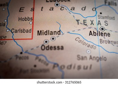 Map view of Texas State