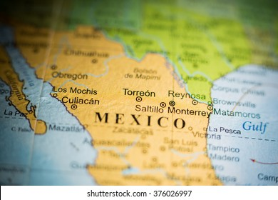 Map View Saltillo Mexico On Geographical Stock Photo Edit Now
