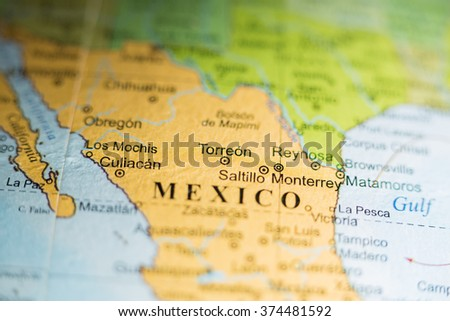 Map View Torreon Mexico On Geographical Stock Photo (Edit Now ...