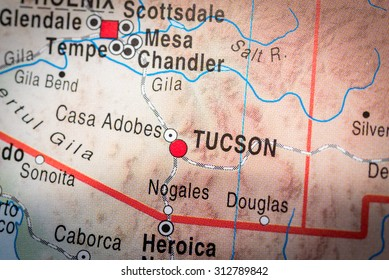 Map view of Tucson