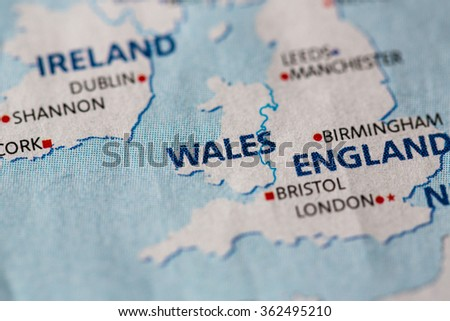 Map view of Wales.