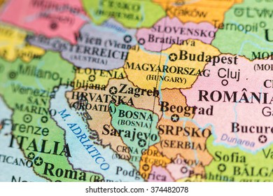 Map View Sarajevo Bosnia On Geographical Stock Photo Edit Now