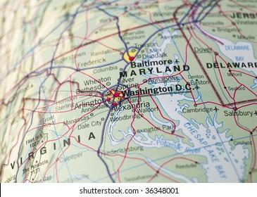 Map of Washington D.C.