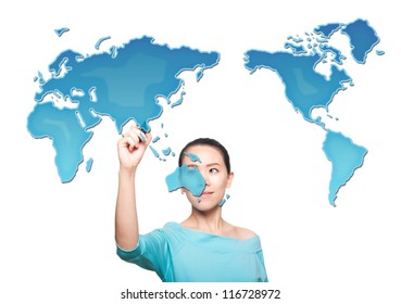 Map of the world women