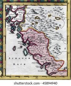 Map from XVIII century.
