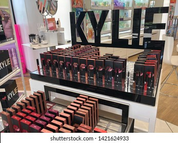 Maple Grove, Minnesota - June 3, 2019: Display of Kylie Cosmetics by Kylie Jenner of the Kardashian family, as seen in an Ulta Beauty store