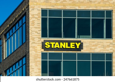 MAPLE GROVE, MN/USA - JANUARY 18, 2015: Stanley corporate headquarters and sign. Stanley Hand Tools is a brand of hand tools and a division of Stanley Black and Decker.