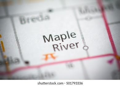 Maple River. Iowa. USA.