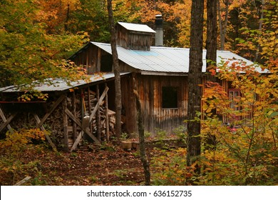 Maple syrup cabin, old style