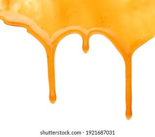 Maple syrup isolated on white background