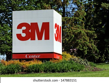 MAPLEWOOD, MN � MAY 31: A sign in front of the 3M World Headquarters complex on May 31, 2013. 3M is an American multinational conglomerate corporation primarily known for adhesive related products.