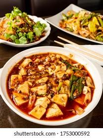Mapo Tofu (麻婆豆腐)chinese  tradition dish ma po tofu