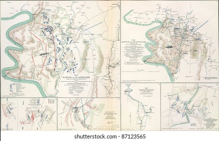 Maps of the battlefield  of Antietam, 1862  from Atlas to Accompany the Official Records of the Union & Confederate Armies, 1861 - 1865