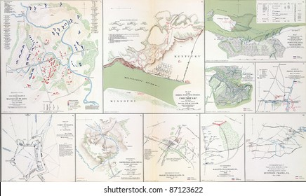 Maps of the battlefields of Manassas   21st July, 1861 from Atlas to Accompany the Official Records of the Union & Confederate Armies, 1861 - 1865