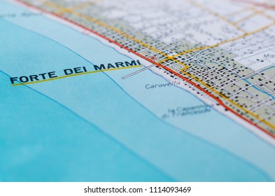 Maps showing some famous tourist locations in Versilia. Useful to indicate a specific place in Tuscany Italy like Forte dei Marmi and others places