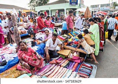 MAPUSA, INDIA - APRIL 06: Mapusa Friday Market on April 06, 2012, Mapusa, India. Mapusa Friday Market is a major weekly market in Mapusa, North Goa and a major tourist attraction.