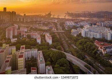 Mar 16/2019 Singapore sunsrie look from HDB Jalan Bukit Merah