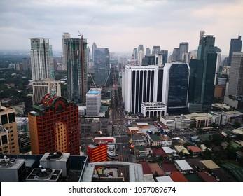 mar 29,2018 Makati city landscape from im hotel, Manila, Philippines