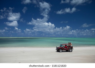 Maragogi, Alagoas / Brazil - 09/13/2015: Buggy tour in Antunes Beach