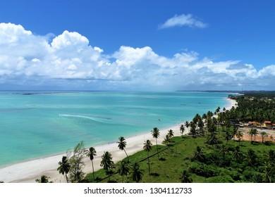 Maragogi, Alagoas, Brazil. Fantastic landscape. Great beach scene. Paradise beach with crystal water. Dream, peace, balance, relax, inspiration.