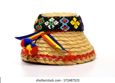Maramures Traditional hat on white background