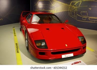 MARANELLO, ITALY - March, 2017. Ferrari Museum exhibit  sport cars, race cars and formula 1 monoposts