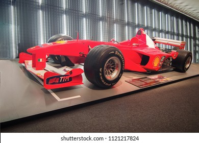 MARANELLO, ITALY-JULY 21, 2017: 2000 Ferrari F1-2000 in the Ferrari Museum. This race car won the Driver's World Championship with Michael Schumacher at the wheel.