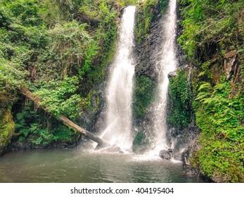 Marangu waterfalls near Kilimanjaro mountain in Tanzania