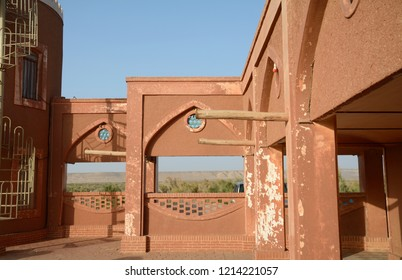 MARANJAB DESERT, IRAN - AUGUST 30: Caravanserai at 30 August, 2018 at Maranjab Desert, Iran. Caravanserais are medieval resting places with room and food.