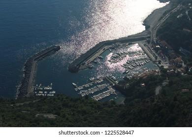 Maratea harbor beach panorama