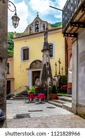 MARATEA, ITALY - The catholic church in the center of the old town Maratea in Calabria in the south of Italy.